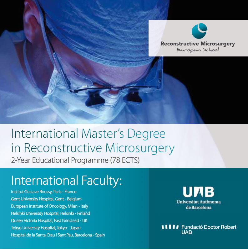 International Master in Reconstructive MicrosurgeryInternational Master in Reconstructive Microsurgery