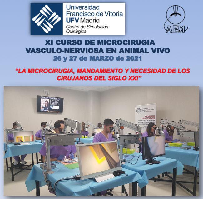 XI CURSO DE MICROCIRUGIA VASCULO-NERVIOSA EN ANIMAL VIVO
