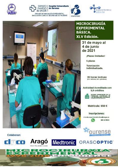 MICROCIRUGÍA EXPERIMENTAL BÁSICA. XLV Edición.